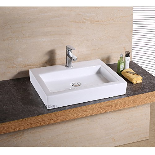 Luxier CS-021 Bathroom Porcelain Ceramic Vessel Vanity Sink Art Basin by Luxier