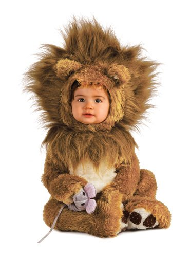 Rubie's Unisex-baby Infant Noah Ark Lion Cub Romper, Brown/Beige, 12-18 (9 Year Old Skunk Costume)