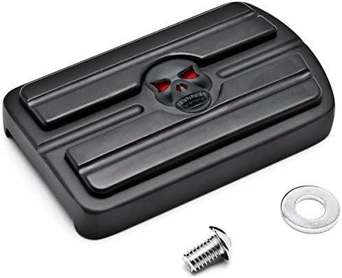 Krator Black Brake Pedal Pad Cover Black NonSlip Rubber For Suzuki Intruder 1500LC 1998-2004