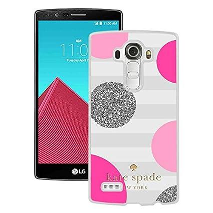 pretty nice 59bfe daea0 Kate Spade 56 White Newest Custom Design LG G4 Phone Case: Amazon.ca ...