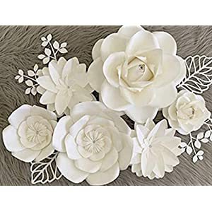 BUBBAPAINT | 3D Paper Flower Decorations for Wall |Backdrop for Décor | Giant Size Pre-Assembled | Flower Party Decor Wendding, Christenings, fifteenth Birthday, Rooms. Anniversary 54