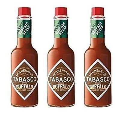 New McIlhenny's Tabasco Brand Buffalo Style Hot Sauce 5 oz (Pack of 3)