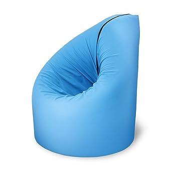 Paq Bed, Sitzsack, Gästebett, Schlafcouch, Matratze, Zusammenfaltbar (Blau)