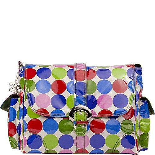 Kalencom KAL 2960 puntos Jazz bolsa de pañales, 40 x 15 x 30 cm, rojo / verde / azul