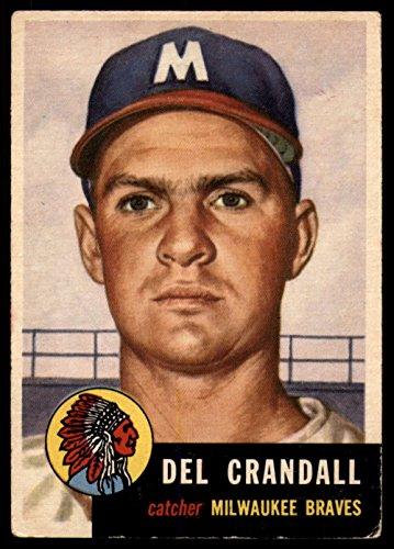 - 1953 Topps # 197 Del Crandall Boston Braves (Baseball Card) Dean's Cards 3 - VG Braves