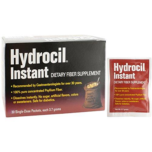 Hydrocil Dietary Fiber Supplement 3.7g Packets (30 Count) Dietary Fiber Supplement, Dissolves Instantly, No Sugar No Artificial Flavors No Artificial Colors
