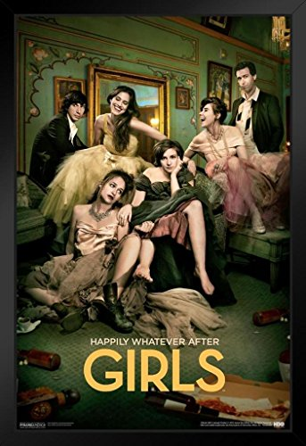 Girls Happily Whatever After Hbo Television Framed Poster