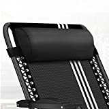 Universal Replacement Pillow headrest for Zero Gravity Chair with Elastic band, Removable padded headrest pillow for Zero Gravity Chairs, Lounge Chair. (Black)