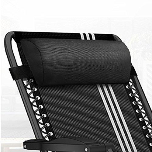 WizPower Zero Gravity Chair Replacement Pillow Headrest, Zero Gravity Recliner Lounge Chair Pillow (Outdoor Chair Pillows)