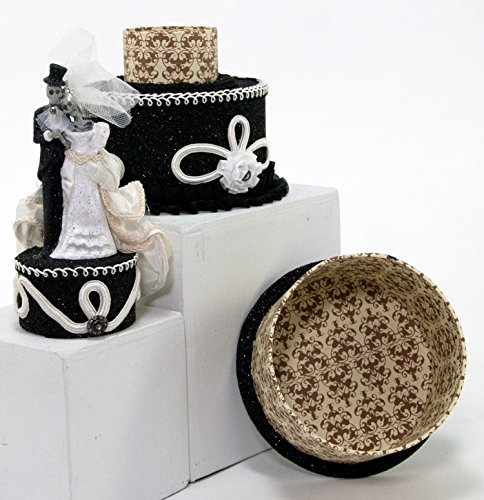 Katherine's Collection Halloween Dearly Departed Cake Box Bride Groom Skeletons ()