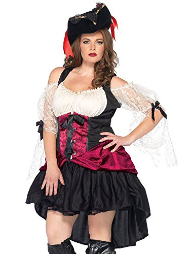 Womens Plus Size Day of The Dead Sugar Skull Senorita Costume- Complete Set with Accessories]()