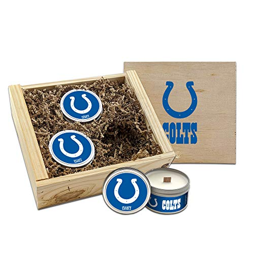 Worthy Promo NFL Scented Candles Gift Set in Wood Box (Indianapolis Colts)