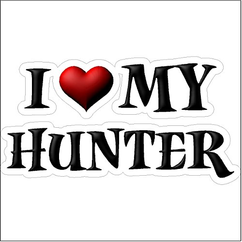 I Love My Hunter.....Funny Hunting Decal Deer Car Truck Removable Hunter Sticker (5