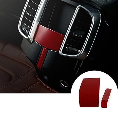 Rojo interior salida de aire rejilla trasera borde funda: Amazon.es: Coche y moto