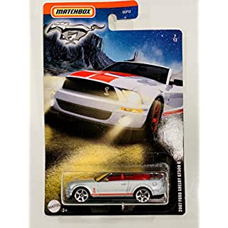 Matchbox 2007 Ford Shelby GT500 G Convertible 7/12, Silver