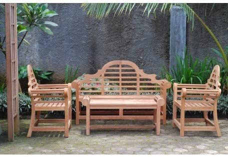 NEW TEAK WOOD GARDEN FURNITURE 2//4//6 SEATER SET FOLDING GARDEN PATIO OUTDOOR