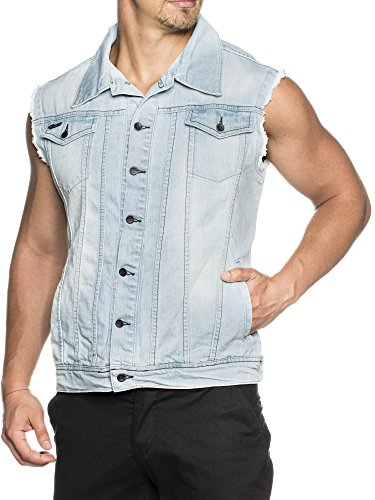 TAZZIO Styler Jeans Club-Weste 5152 Blau M