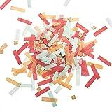 Ling's moment Party Wedding Confetti, Tissue Paper Strips Table Confetti, Mini Square Glitter Confetti, 100g/4Oz Confetti Set, for Summer Party, Bridal Shower, Photography & Party Props