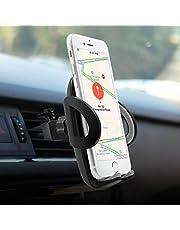 Supporto Auto Smartphone, POOPHUNS Porta Cellulare Auto Bocchette Aria Regolabile e 360 Gradi di Rotazione, Supporto Auto Universale, Porta Telefono Antiscivolo e Stabile