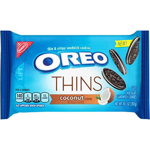 - Oreo Thins Coconut Creme Chocolate Sandwich Cookies, 10.1 Ounce