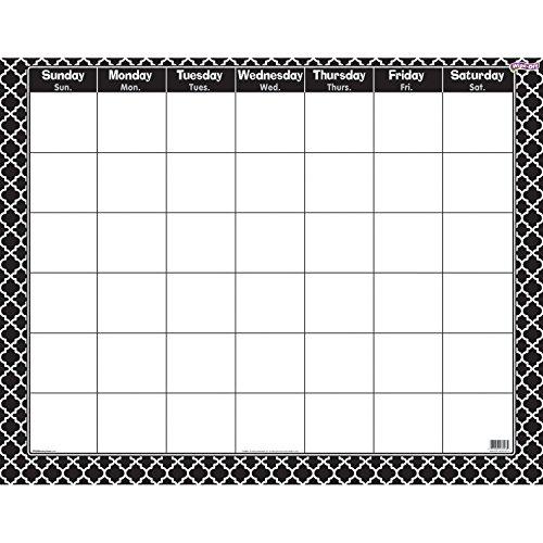 Trend Monthly Calendar - TREND enterprises, Inc. Moroccan Black Wipe-Off Calendar, Monthly