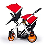 Luxury Baby Jogger City Select Lux Double Tandem Double Stroller with Second seat 2018 New Blue Baby strolle