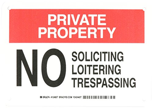Brady 124857 Admittance Soliciting Trespassing