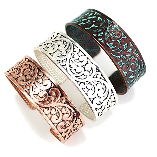 Wyo-Horse Jewelry Copper Eden Cuff Fashion Bracelet from The Collection (Copper)