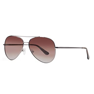 YUFENRA Lunettes de soleil polarisees Aviateur pour Hommes et Femmes Protection UV400 (cadre gris/lentille Marron) S5ENBOODBT