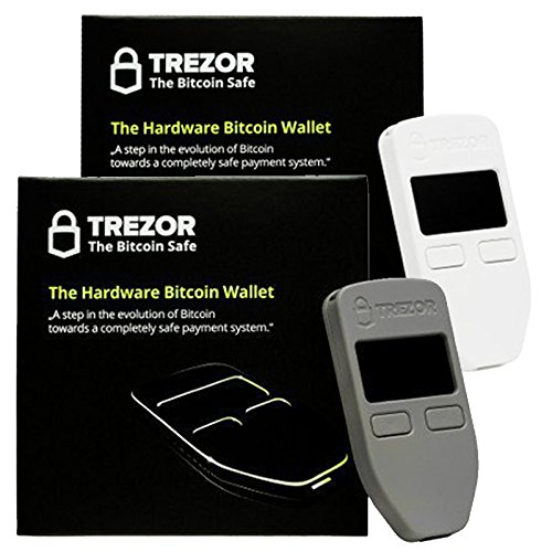 Grey & White Combo Trezor Hardware wallet vault safe for Bitcoin Litecoin LTC Namecoin Dogecoin Dash hardware wallet protective safe storage