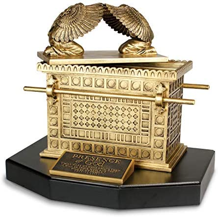 Lighthouse Christian Products Ark of The Covenant Antique Gold Tone 14 x 12 Hand-Cast Resin Mounted Sculpture