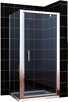 Cabina de ducha/Mampara de pulidoras de cristal de seguridad eckdusche agujeros Puerta oscilante + lado pared 70 x 70: Amazon.es: Hogar