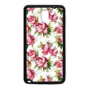 Simple flowers pattern durable fashion phone case for samsung galaxy note3