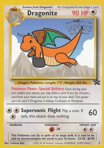 Pokemon - Dragonite (5) - Wizards Black Star - Card Movie Promo Set