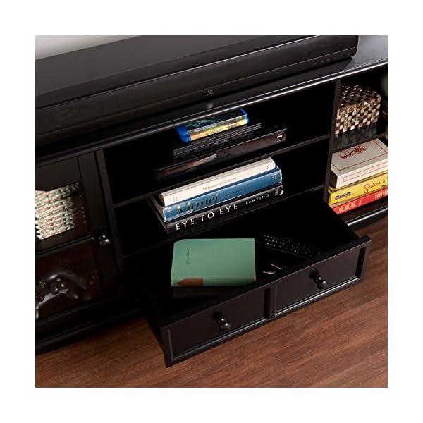 SEI Coventry Antique-Black Large Television Console