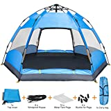 Amagoing Camping Tent, 4 Person Instant Pop Up Family Tent Double Layer Waterproof 4 Season Backpacking Tent for Picnic Hiking Fishing Traveling