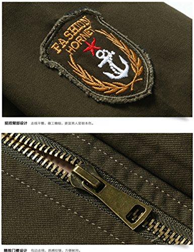 Camicia Yyzyy Uomo Militare Giacca Verde gwqBSF