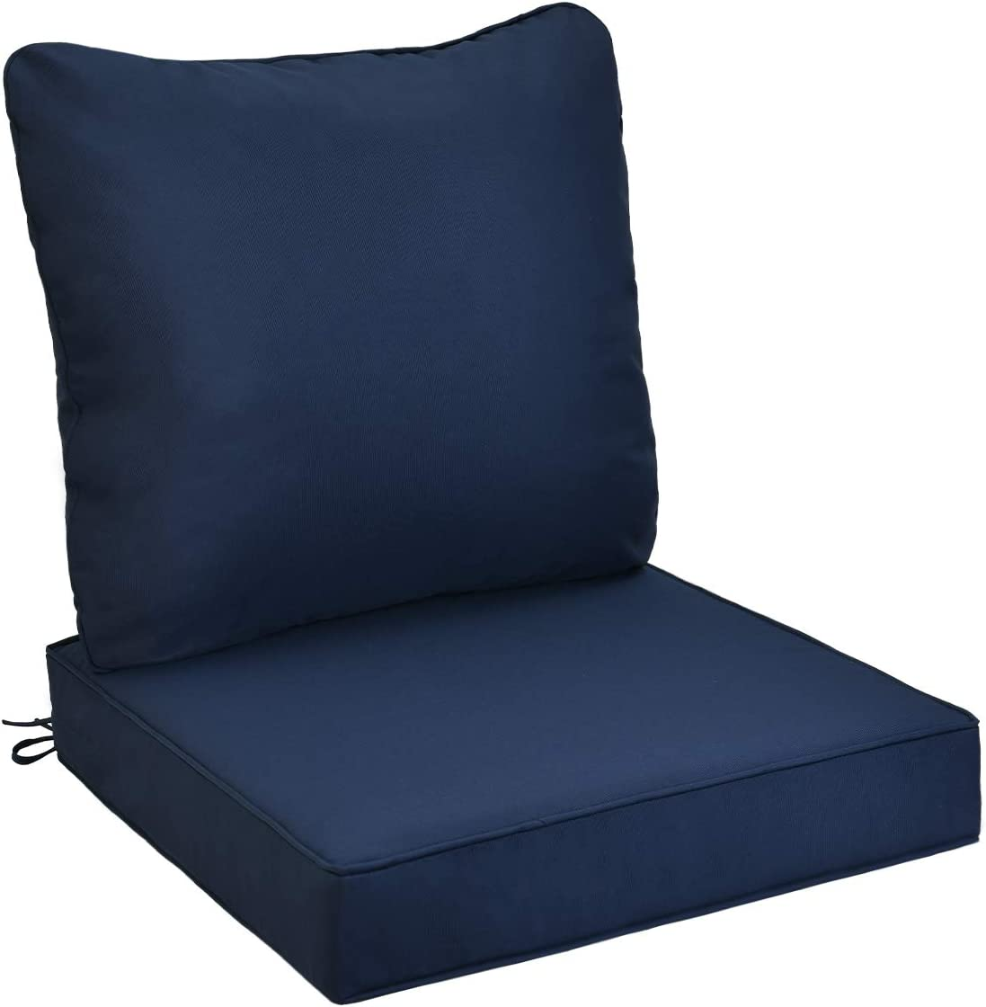 AAAAAcessories Outdoor/Indoor Water-Resistant Deep Seat Chair Cushion, Replacement Patio Furniture Cushions, 24 x 24 x 5 Inch, Blue