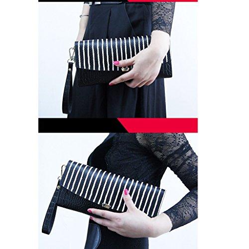 Nuova ondata di sesso femminile borsa a mano la borsa di cuoio femminili femminile spalla pochette barre diagonali piccola borsa bag