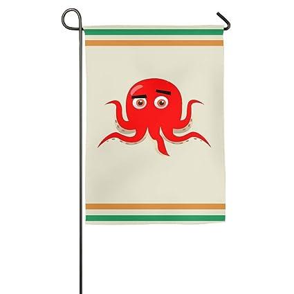 Christmas In Octopus Garden >> Amazon Com Red Octopus Garden Flag Indoor Outdoor Decorative