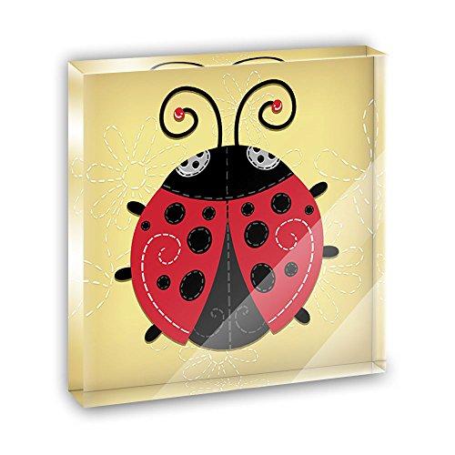 Cute Ladybug Acrylic Office Mini Desk Plaque Ornament Paperweight