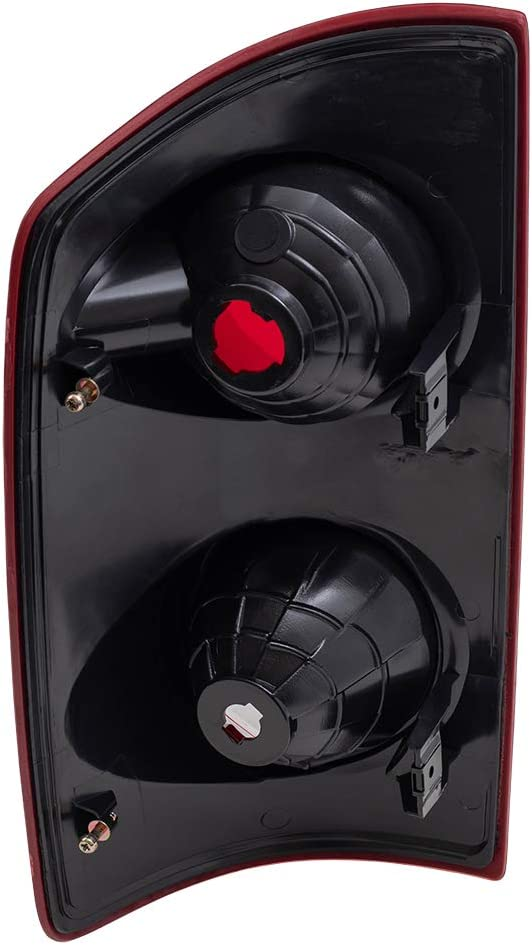 BROCK Driver and Passenger Taillights Tail Lamps Replacement for 2007-2008 Pickup Truck 55277303AC 55277302AC