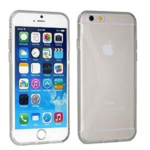 iPhone 6s Case - UTLK [Anti-slip /Anti-fingerprint] Case Flexible TPU Cover for iPhone 6 / iPhone 6s Soft Case + Stylus Pen (X-Shape Clear)