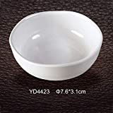 Vistaric Seasoning Dish Imitation Porcelain Sauce Dish Water Drop Shaped Taste Bowl Soy Sauce Dish High-Grade A5 Melamine Tableware: YD4423