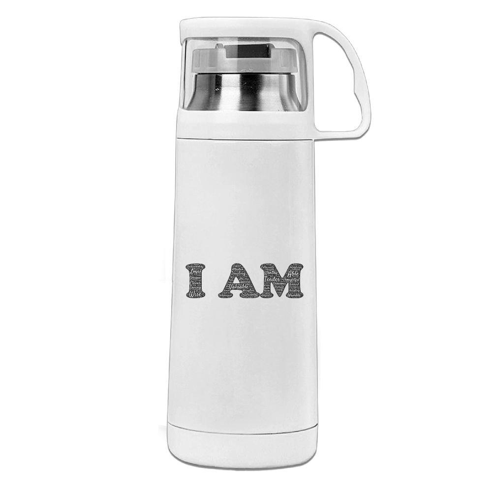 カレンガーデンI Amステンレススチール真空断熱ウォーターボトルリークプルーフHandledマグホワイト、12oz B078V99Z5Q