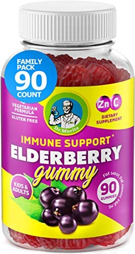 Elderberry Gummies for Kids and Adults 90 Count – Natural Immune System Booster and Health Support with Black Sambucus Elderberries Extract – Vitamins C and Zinc Herbal Immunity Supplements