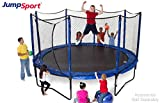 JumpSport 14' PowerBounce | Includes Trampoline, Safety Enclosure, PowerBounce Springs | Enjoy Safer Landings with High Bounce Performance | Adjustable PowerBounce Springs for the Entire Family