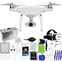 DJI Phantom 4 Pro Quadcopter + Xtreme VR Vue II (For iPhone/Android Screen Size 3.5-6) + Hard-Shell Aluminum Case + Sunshade Hood + Sunshade Hood for Remote Controller + Lens Cleaning Pen & More!