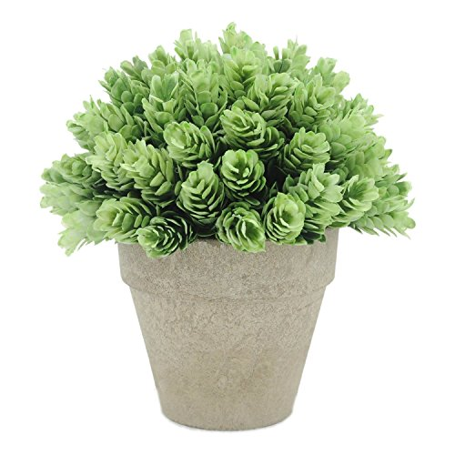Velener Artificial Provence Flowers Arrangements in Pots for Home Decor (Green)