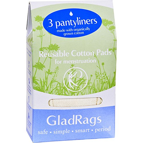 2Pack! Gladrags Pantyliner Organic Undyed Cotton -
